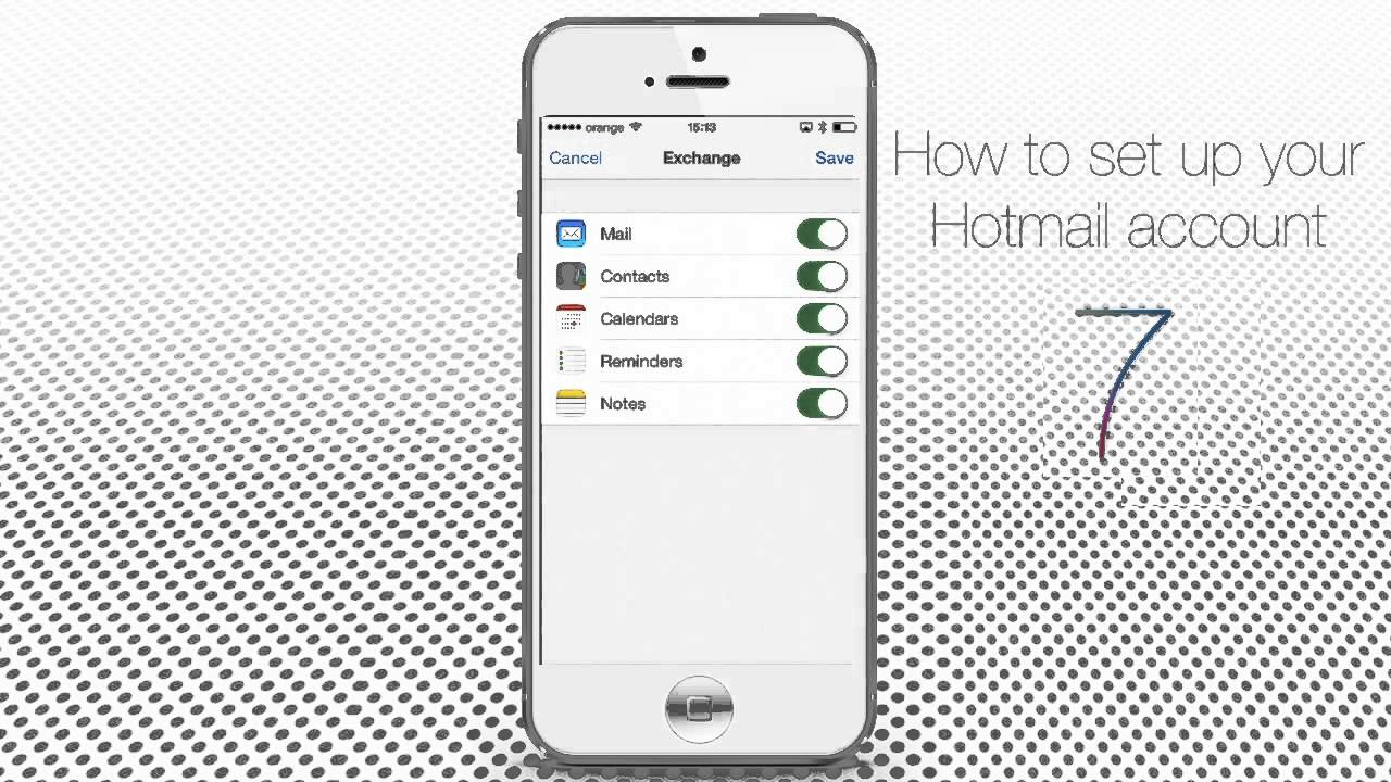 how to set up hotmail on iphone how to set up and configure hotmail on iphone and 20316