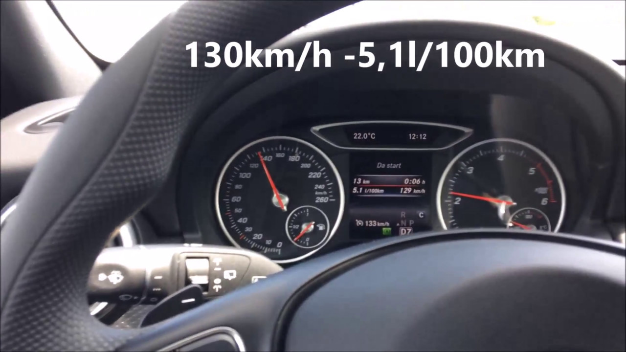 mercedes benz a160d automatic fuel consumption test / consumo