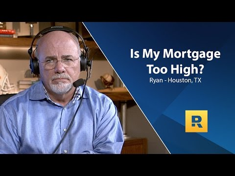 Is My Mortgage Too High?