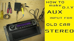 AUX input Installation for any old model car stereo even without CD exchangerport [D.IY]