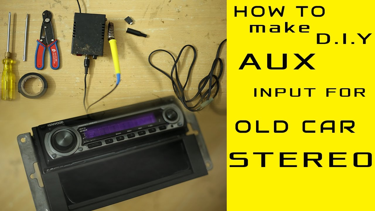 hight resolution of aux input installation for any old model car stereo even without cd exchangerport d iy youtube