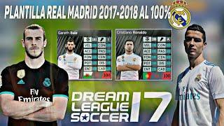 Super Plantilla Real Madrid 2017-2018 al 100% Para DLS 17 + División Elite + Hack de monedas!