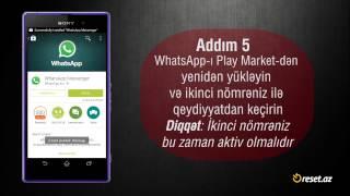 Bir Smartfonda İki WhatsApp quraşdırma üsulu  / OG WhatsApp
