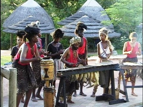 African Music. Traditional Rhythm Band from Botswana Part 3.