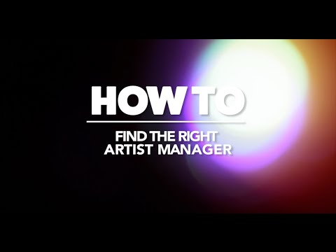 how to find the right artist manager - What Is A Artist Manager