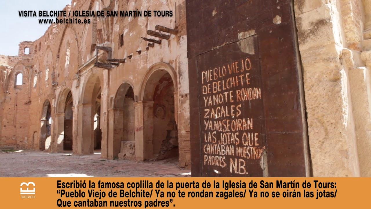 Visita Belchite Iglesia De San Martin De Tours Belchite