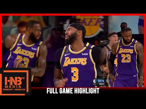 Lakers vs Nuggets 9.26.20 Game 5   Western Finals   Full Highlights