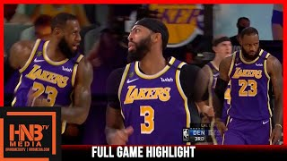 Lakers vs Nuggets 9.26.20 Game 5 | Western Finals | Full Highlights