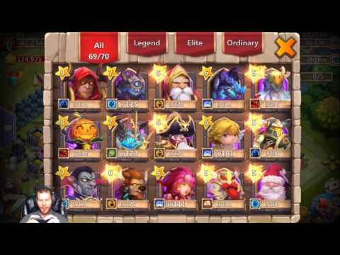 Month Old Account WITH EVERY HERO Rolling 42k Gems Castle Clash