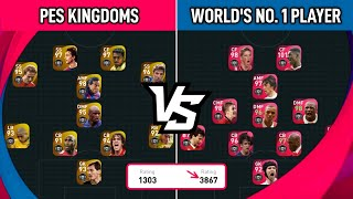 WORLD NO. 1 PES PLAYER VS PES KINGDOMS 🔥 Pes 2021 Mobile Gameplay
