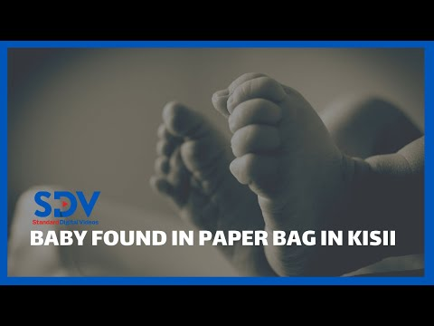 Shock Newborn baby wrapped in a paper bag rescued by Kisii residents
