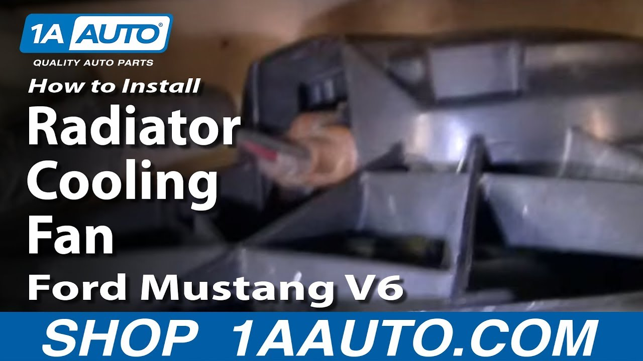 hight resolution of how to replace radiator cooling fan assembly 97 98 ford mustang