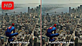 Spider Man Game PLAYSTATION 4 Graphics Comparison: PS4 Pro vs. PS4