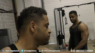 Fitness Vlog | Back & Arms Training @hodgetwins