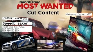 Repeat youtube video Need For Speed Most Wanted 2012 - Cut Content & Concepts