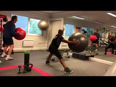 Cuban Cardio Swiss Ball Legs Workout