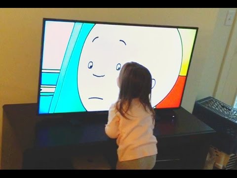 Kid watching TV too close