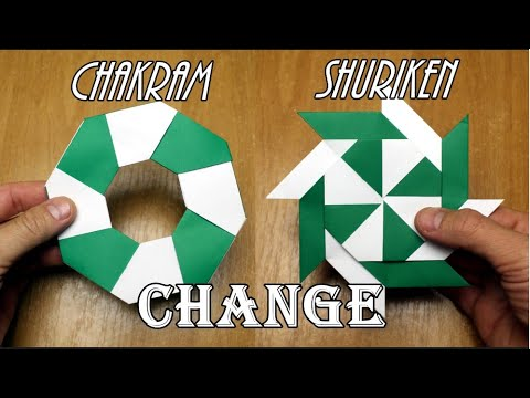 Origami a chakram - shuriken out of paper