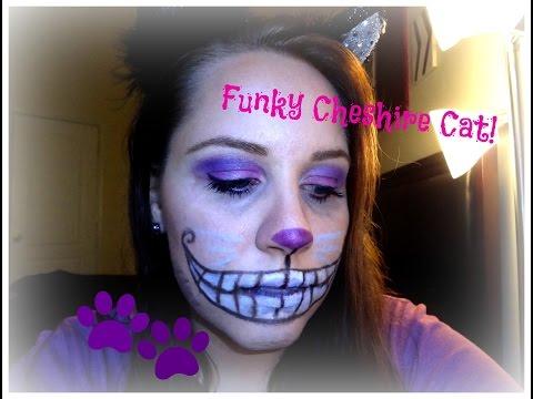 Funky Cheshire Cat: Halloween Makeup