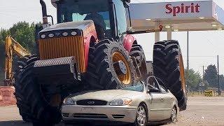 Versatile Tractor Car Smash