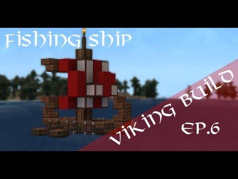 Minecraft Viking Fishing Ship TUTORIAL