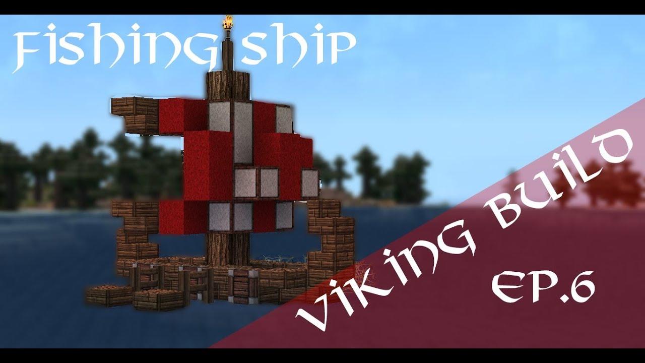 Minecraft viking fishing ship tutorial youtube for How to ship fish