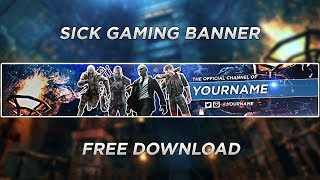 SICK Gaming Banner Template! | Speedart #19 (FREE DOWNLOAD)