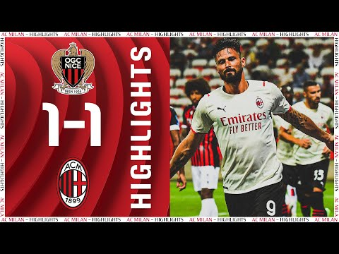 Highlights | Giroud scores: Nice 1-1 AC Milan