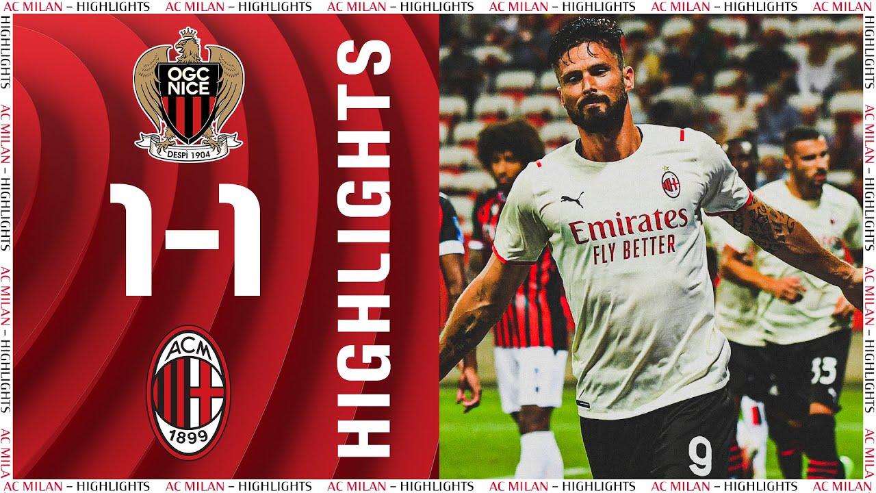 Highlights  Giroud scores Nice 11 AC Milan
