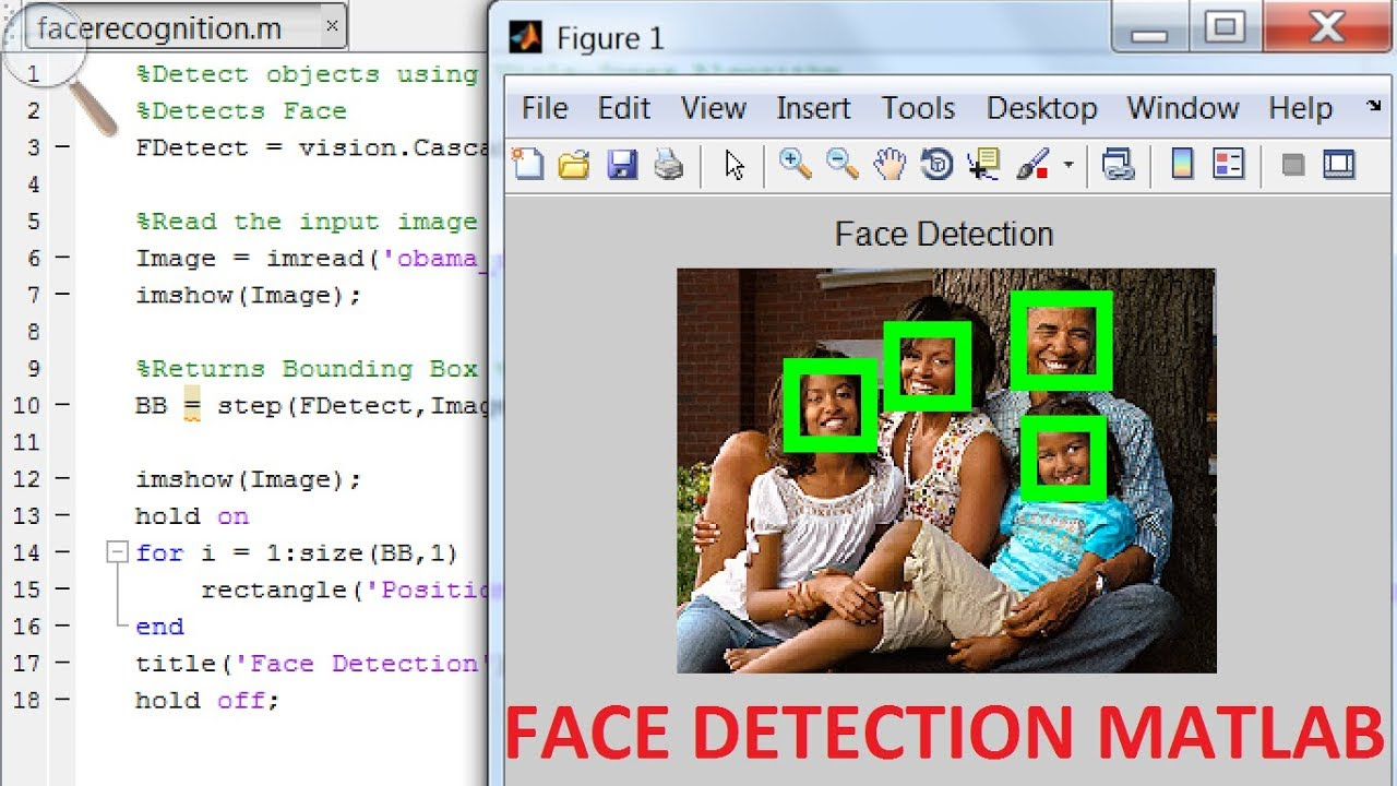 face recognition using MATLAB
