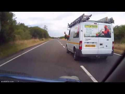 Stupid driver in Llanelli