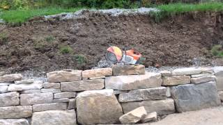 Dry Stack Natural Stone Retaining Wall At Deep Creek Lake, Maryland.  Lucas Landscaping, Dlucas