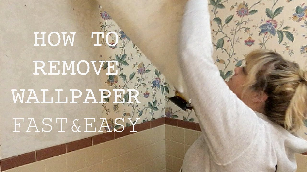 HOW TO REMOVE WALLPAPER | Fast & Easy