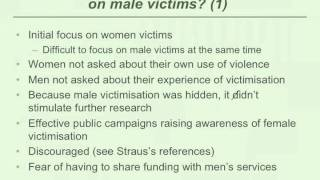 Meeting the needs of male victims of domestic and family violence - Part 3 of 7