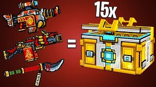 Opening 15+ Super Chests for Oriental Set! | Pixel Gun 3D