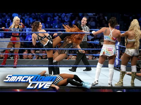 Ten-Woman Tag Team Match: SmackDown LIVE, June 12, 2018