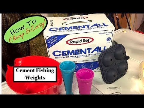 DIY Cheap and easy fishing weights- How to save money by pouring your own cement fishing weights.