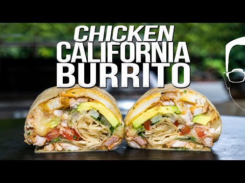 THE BEST (CHICKEN) CALIFORNIA BURRITO | SAM THE COOKING GUY 4K