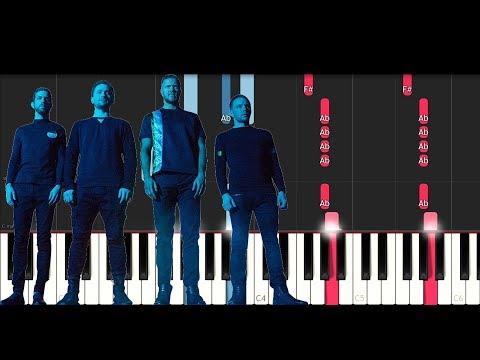 Imagine Dragons - Radioactive (SLOW EASY PIANO TUTORIAL)