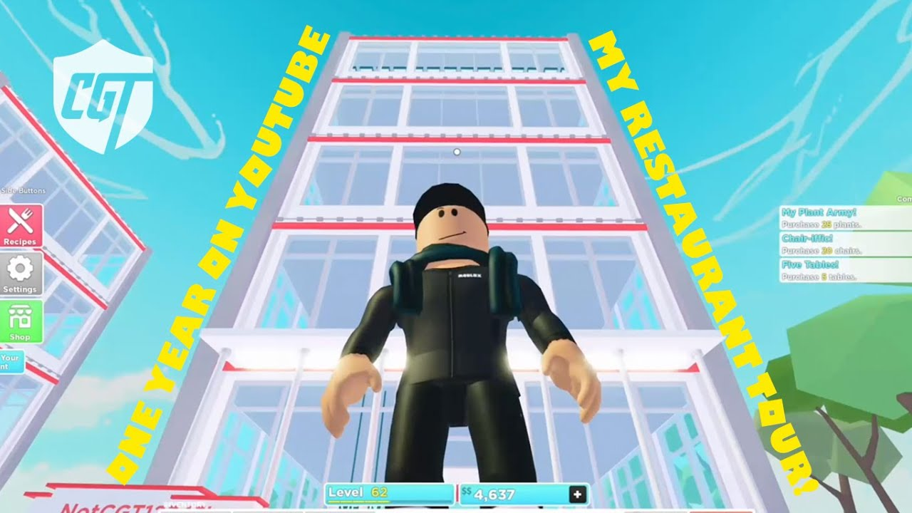 ROBLOX: REVISITING MY RESTAURANT ON MY YOUTUBE ANNIVERSARY!