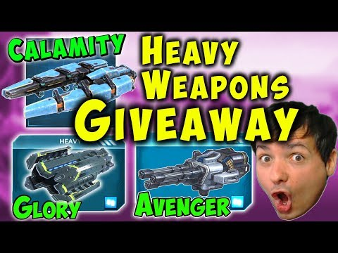 NEW Heavy Weapons GIVEAWAY: Glory Calamity Avenger 50x War Robots WR