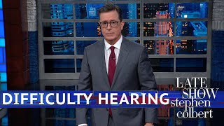 """Robert mueller let his 448-page report do most of the talking at appearance before congress today.subscribe to """"the late show"""" channel here: http://bit.l..."""
