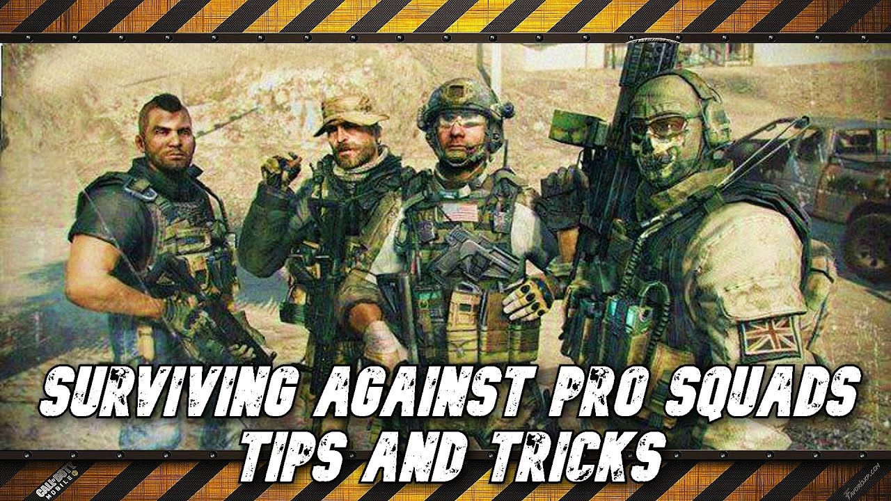 How to survive against PRO squads - Call of Duty Mobile - Battle Royale - Tips & Tricks