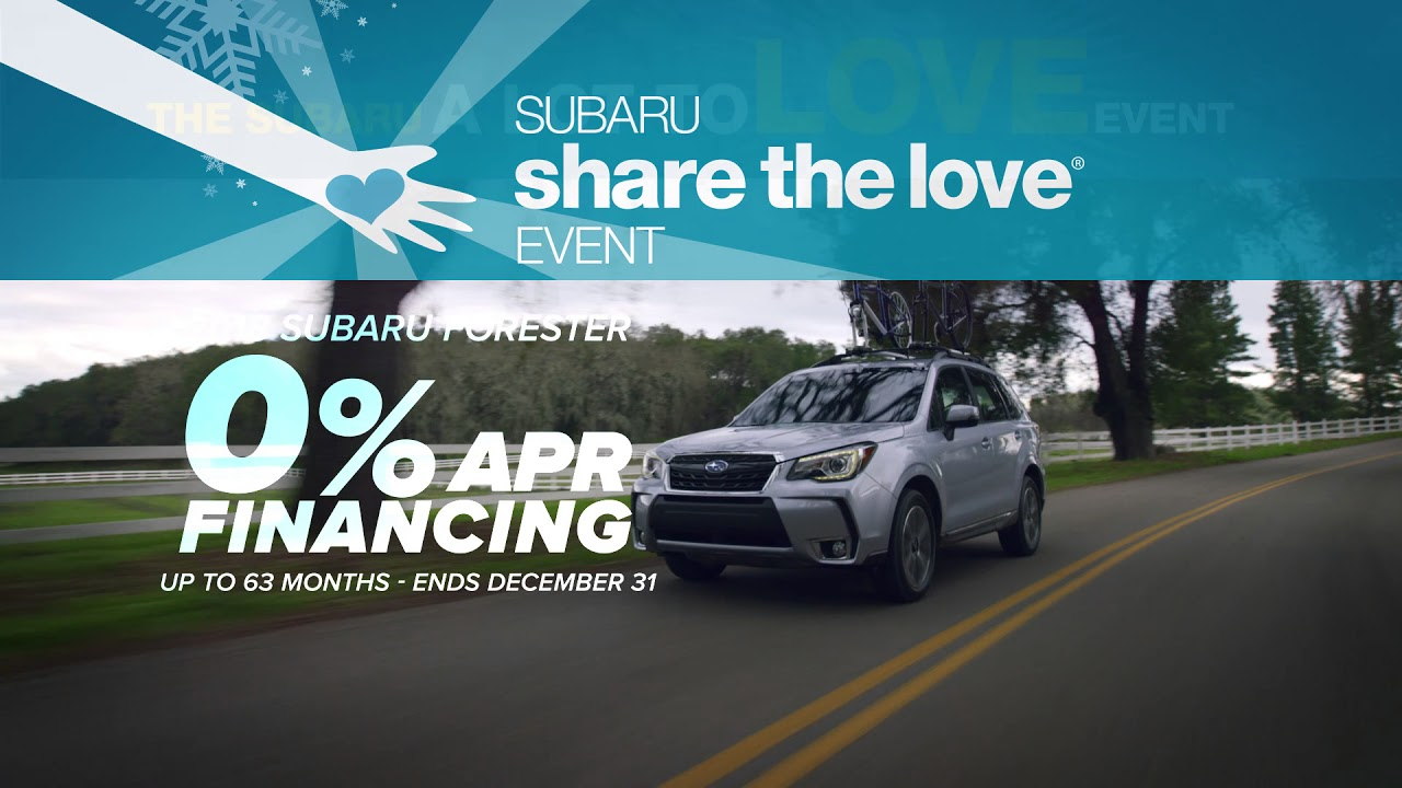 Subaru 0 Financing >> Subaru Share The Love 2018 Subaru Forester 0 Apr Financing