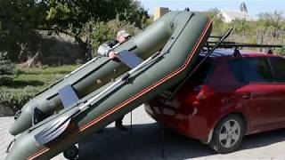 Погрузка-разгрузка лодки из пвх