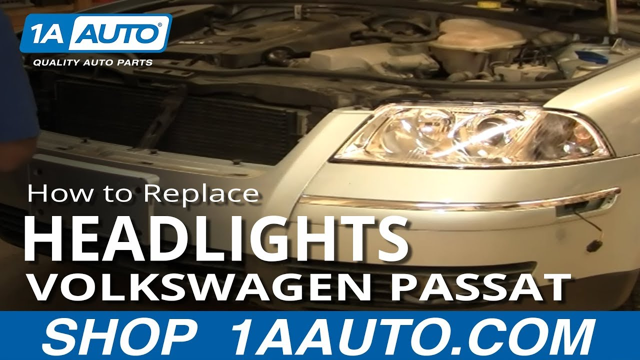 maxresdefault how to install replace headlight and bulb volkswagen passat 02 05  at gsmx.co