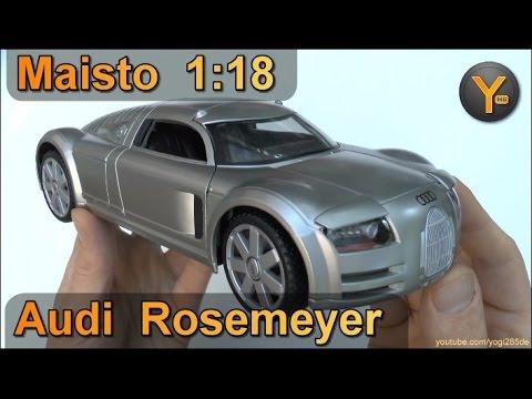 1:18 Maisto Special Edition: Audi Rosemeyer Supersportwagen / Modellauto Model Car Diecast