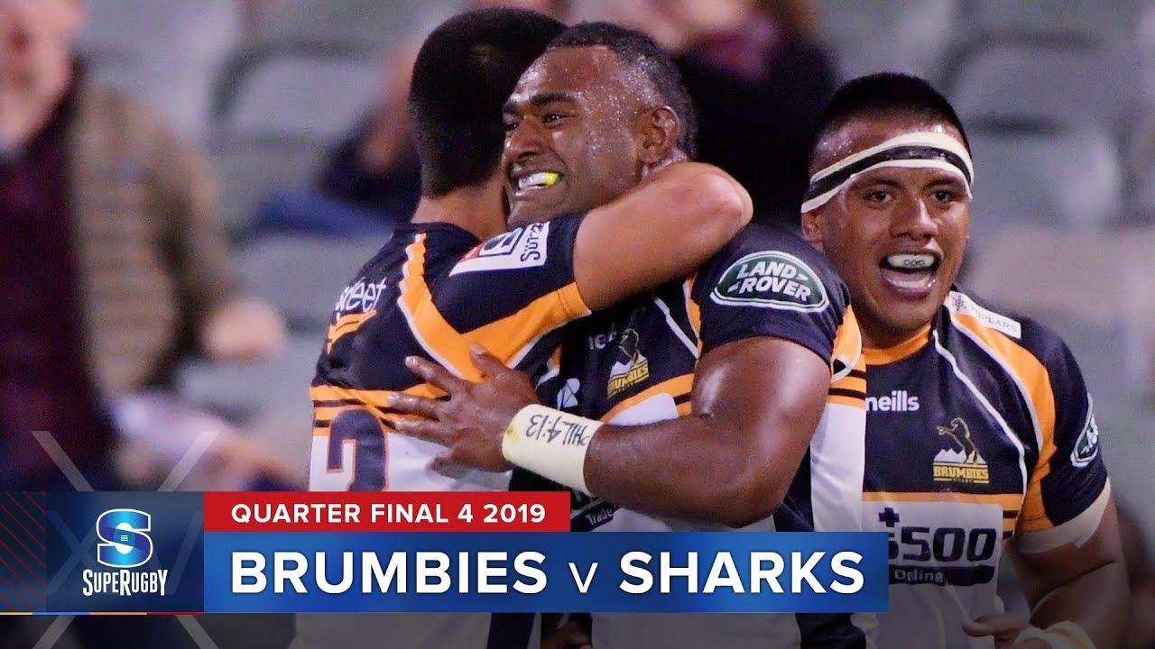 Brumbies v Sharks | Super Rugby 2019 Quarter Final 4 Highlights