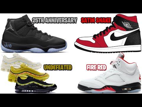 Air Jordan 11 25th Anniversary Jordan 1 Satin Snake Fire Red