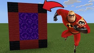 How To Make a Portal to the INCREDIBLES Dimension in MCPE (Minecraft PE)
